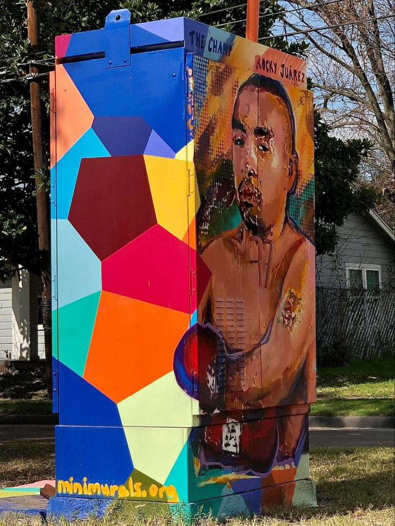 Civic pride through civic art, rocky juarez mini mural